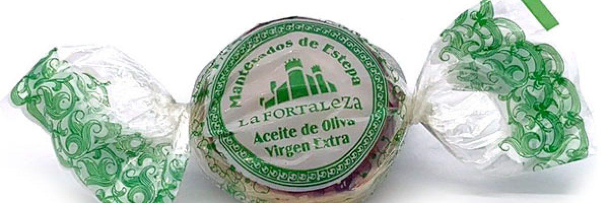 Imagen de mantecado de aceite de oliva La Fortaleza envuelto